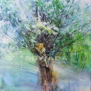 Malerei-Baum-modern-blaugrün
