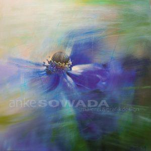 Anemone-gemalt-blau