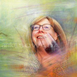 Auftragsmalerei-Portrait-Frau