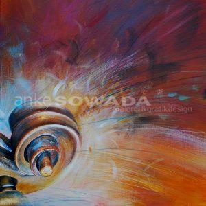 Bild-gemalt-Schnecke-Geigenkopf