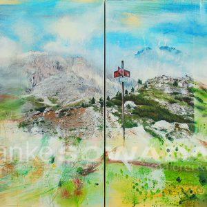 Malerei-Berge-Alpen