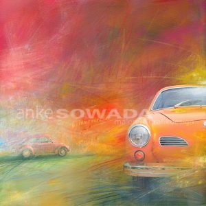 Malerei-Auftragsbilder-Autos-Karmann-Ghia