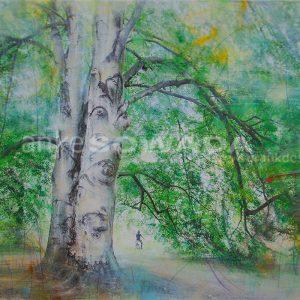 Malerei-Bäume-grün-Hannover-Georgengarten