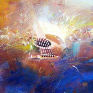 Malerei-Gitarre-Auftrag