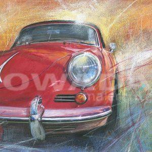 Malerei-Auftragsbilder-Autos-Porsche