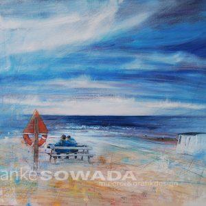 Malerei-Himmel-Strand-Jahresurlaub