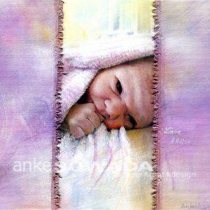 Auftragsmalerei-Kinder-Baby-Liara