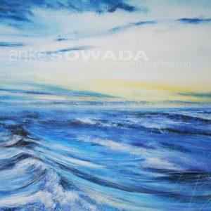 Malerei-Himmel-Wasser-Wellen-Lieblingsort
