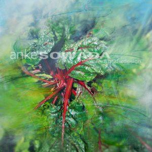 Malerei-Mangold-grün-und-rot