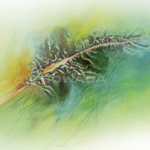 Malerei-Mangold-Blatt-grün