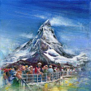 Malerei-Berge-Matterhorn