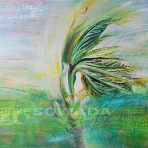 Malerei-Knospe-Baum-Auftragsbild