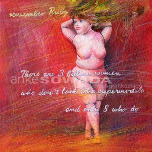 Malerei-Frau-Feminin-rund