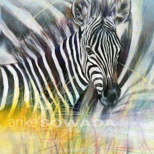 Malerei-Tiere-Zebra