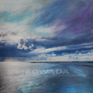 Malerei-Himmel-Wasser-Blau-Wolken