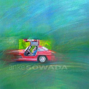 Malerei-Auftragsarbeiten-Autos-Oldtimer-Flügeltürer