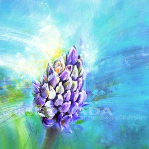 Malerei-Blume-Hyazinthe-Auftragsbild