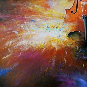 Bild-Malerei-Geige-Auftragsarbeit