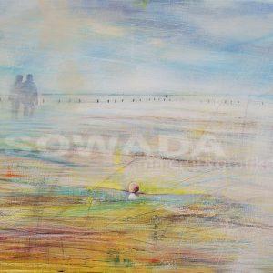 Malerei-Himmel-Strand-Abschiedsstimmung
